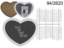 Heart Display Board with Letters (145 characters)