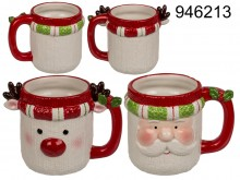 Christmas mug Santa Claus or Reindeer