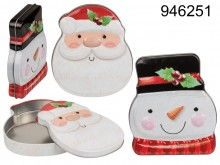 Christmas pattern cookie tin