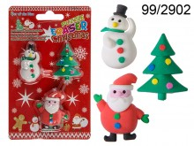 Christmas Erasers (3 pieces)