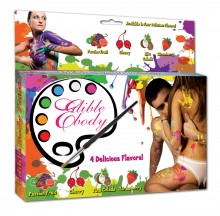 Edible paints for body painting - 4 flavors