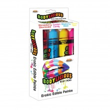 Edible markers for body painting - 4 flavors of XL