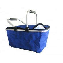 Shopping basket and picnics - blue