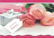Mother's day ticket with an envelope - roses